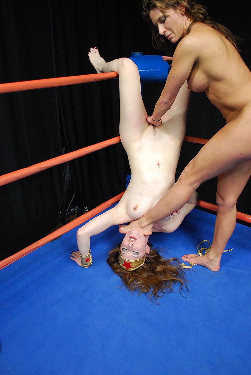 Clothed Male Naked Female Wrestling